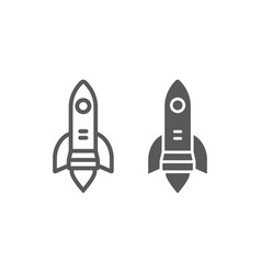 startup line and glyph icon business and strategy vector image