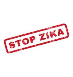 Stop Zika Rubber Stamp vector image