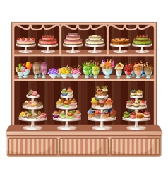 Store of sweets and bakery vector image