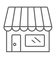 Store thin line icon business and market vector