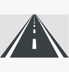 straight road template isolated on background vector image
