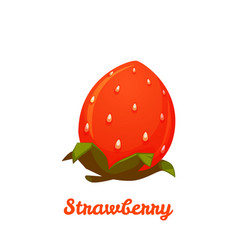 Sweet strawberry on transparent background vector