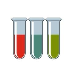 Tubes cartoon icon isolated on white background vector image