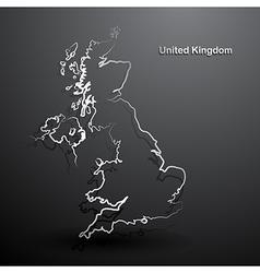 United Kingdom map2 vector