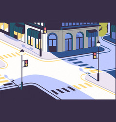urban landscape with empty street corner elegant vector image