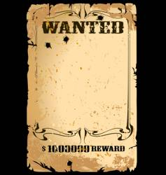 Wanted poster vector