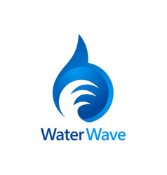 water wave abstract logo vector image