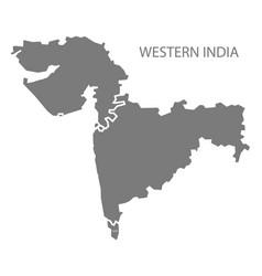 Western india gray region map vector