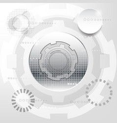 white and silver abstract technology background vector image
