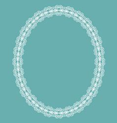 White oval frame vector