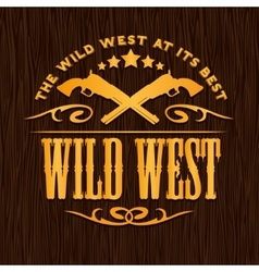 Wild west vintage artwork for boy wear on vector image