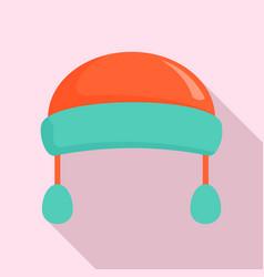winter fashion headwear icon flat style vector image
