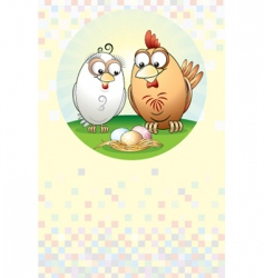chickens family vector image vector image