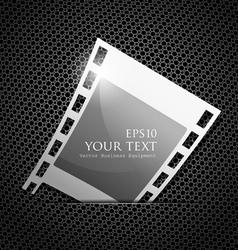 Empty silver camera film roll vector image vector image