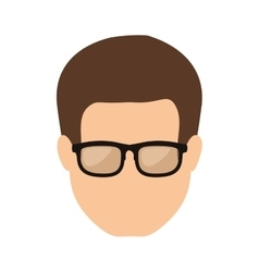 front face man with brown hair vector image vector image