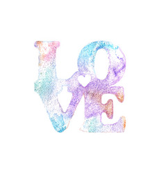 love watercolor lettering vector image