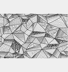 polygonal zentangle seamless pattern vector image