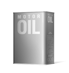 Realistic metal containers for motor oil vector image vector image