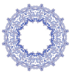 round floral frame in the style of ethnic mandala vector image vector image