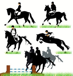 jockeys set02 vector image