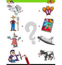 match people characters and objects game vector image