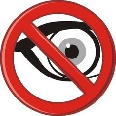 No Peeking vector image vector image