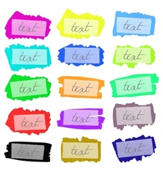 set of painted frames vector image vector image
