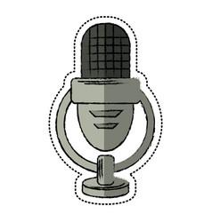 cartoon retro microphone voice vector image