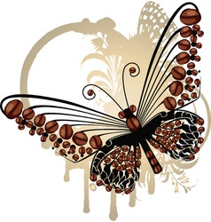 Coffee Butterfly vector image