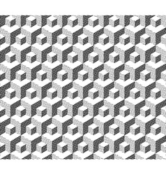 cubical geometric pattern vector image vector image