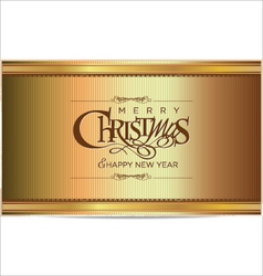 Merry christmas gold background vector image