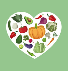 vegetables organic fresh ingredients vector image vector image