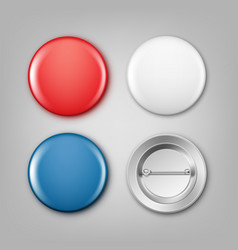 blank colored badges vector image vector image
