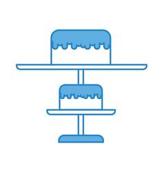 blue stand birthday cake cartoon vector image vector image