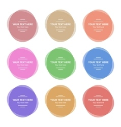 Set of Colorful Round Banners vector image vector image