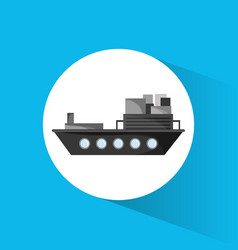 ship cargo container transport vector image