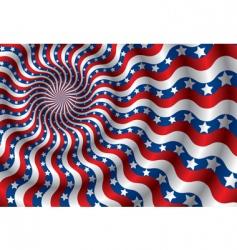USA flag abstraction vector image
