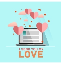 Valentines day Receiving or sending vector image