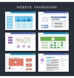 Web site page templates layouts website vector image