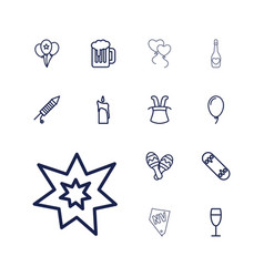 13 party icons vector