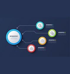 4 options infographic design structure vector