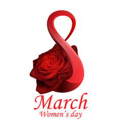 8 march womens day greeting card template vector image