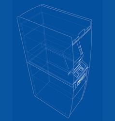 Atm bank cash machine concept vector