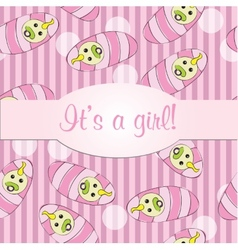 Baby girls seamless pattern for card - it is a vector image