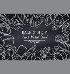 bakery template page vector image