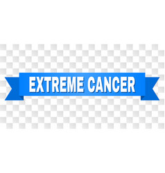 Blue tape with extreme cancer caption vector