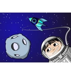Boy in space vector image