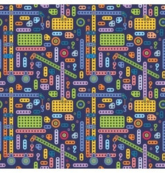 Boys toy pattern vector image
