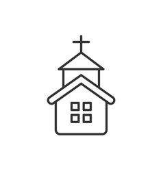 church icon in flat style chapel on white vector image