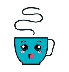 Coffee cup kawaii style vector